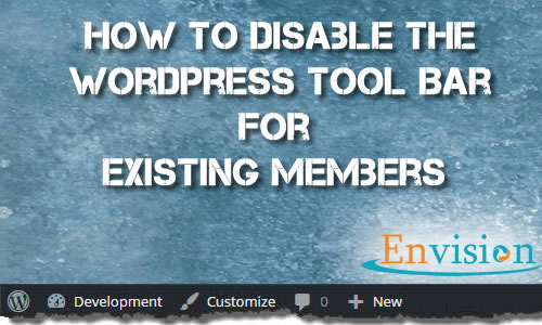 How to Disable The WordPress Admin Bar
